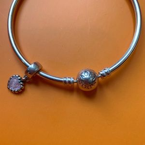Pandora Jewelry - [Pandora] Sterling Silver Bangle Bracelet Heart
